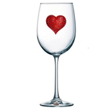 Four Pack of Jeweled Stemmed Wine Glasses - Save 15%