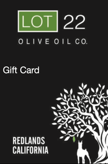 Lot22 Gift Card Options - Lot22oliveoilco.com