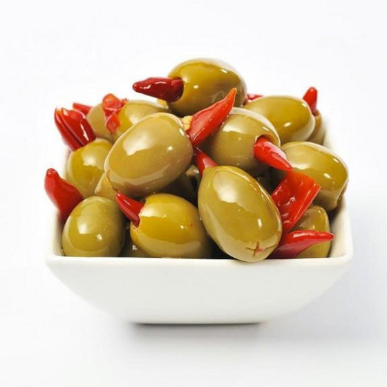 Olives w/ red chili