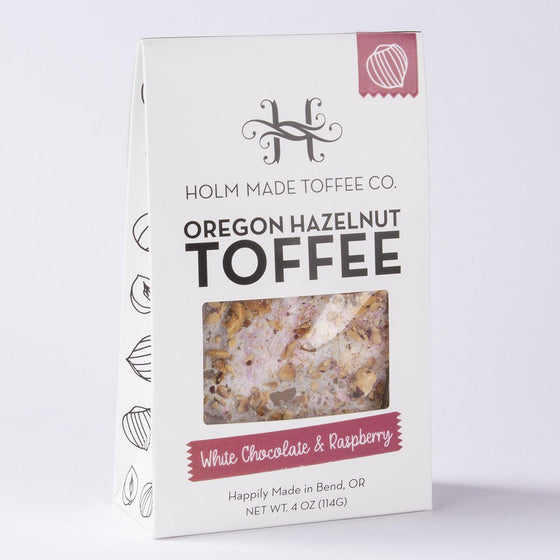Holm Made Toffee Co./ White Choc Raspberry