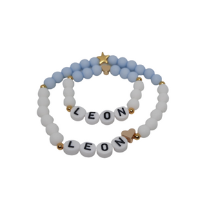 Mutter Kind Armband Set blau