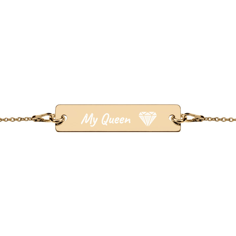 Graviertes Armband My Queen  Gold