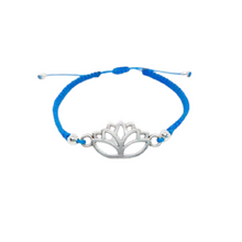 Laden Sie das Bild in den Galerie-Viewer, Armband Makramee Lotus