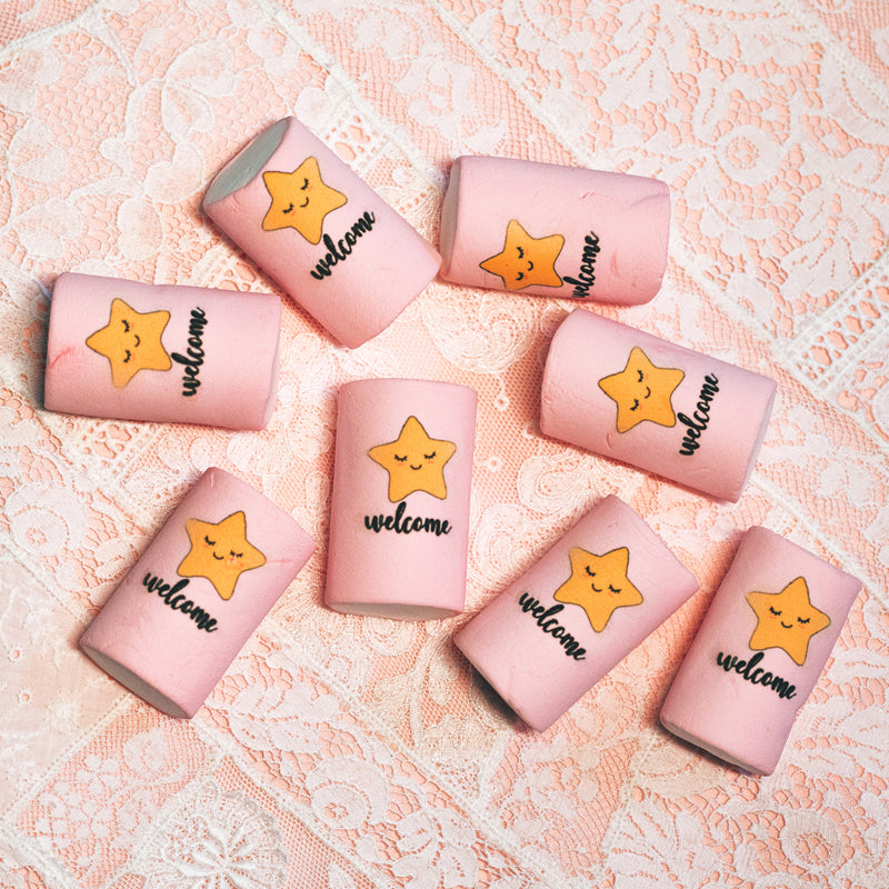 20 Pink Marshmallow Star