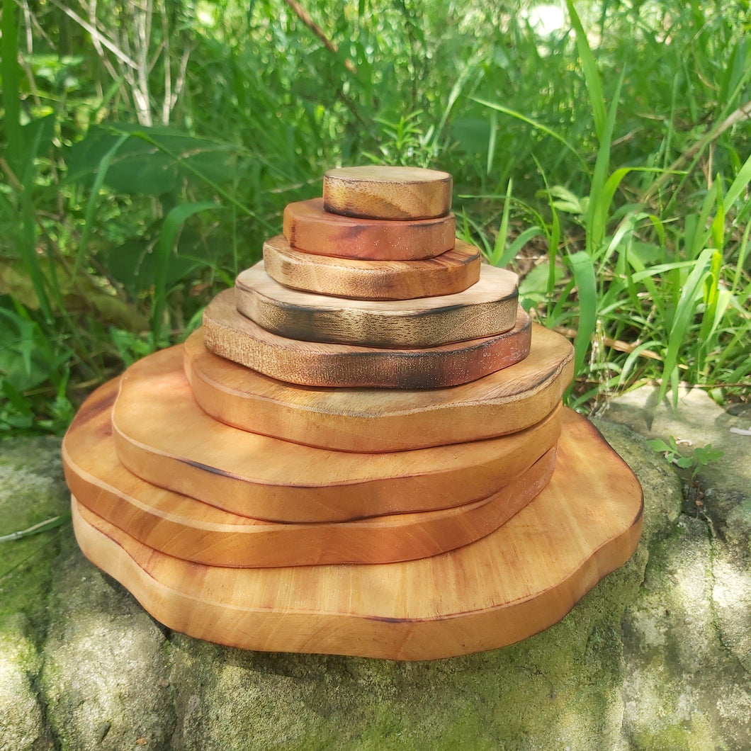 Wooden Stacking Pyramid