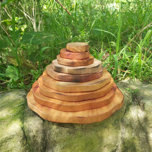 Wooden Stacking Pyramid - Inspired Natural Play Store