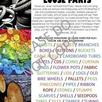 Loose Parts Poster - Inspired Natural Play Store