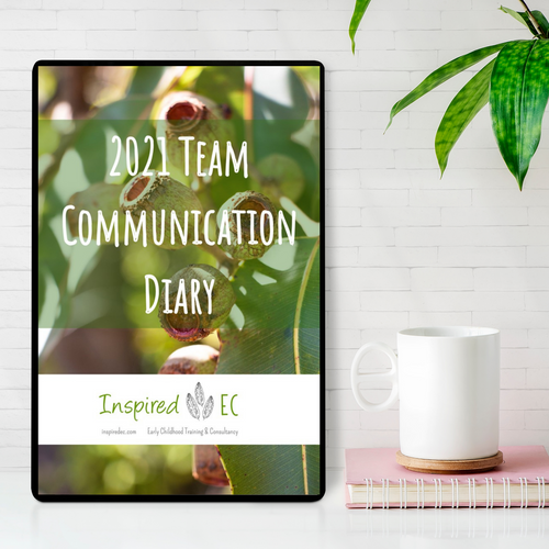 2021 Team Communication Diary - Inspired Natural Play Store