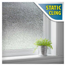 BDF 1CZ1 Hammered Glass Decorative Privacy Static Cling Window Film Non Adhesive Kitchen Home Office