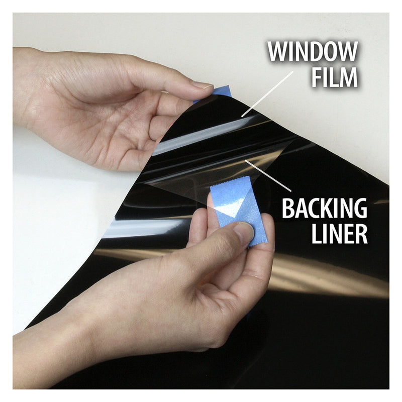 BDF S8MB05 Window Film Security and Privacy 8 Mil Black 5 (Very Dark)
