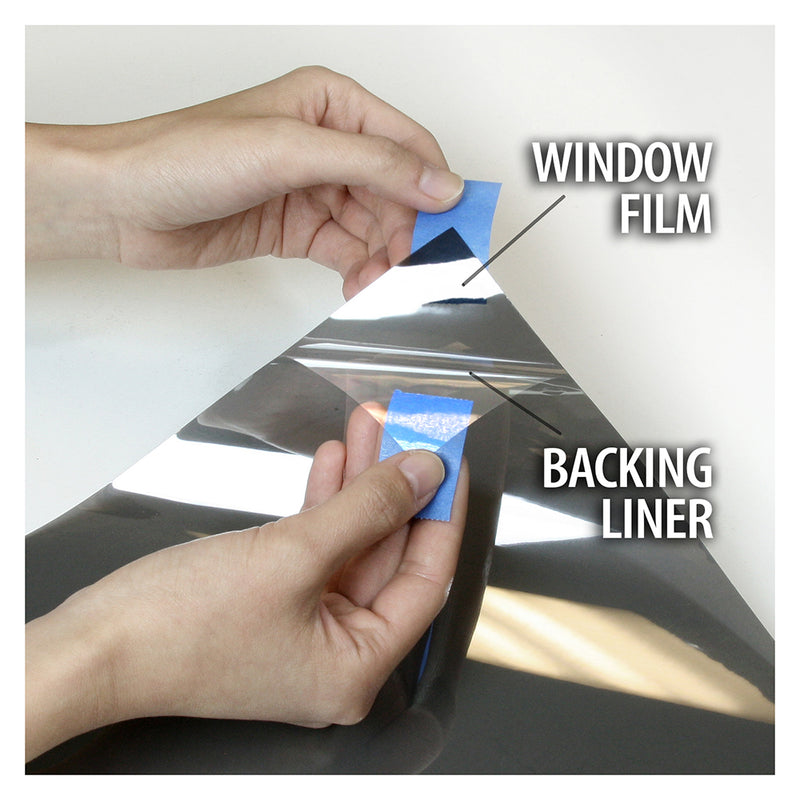 BDF S4MB35 Window Film Security and Sun Control 4 Mil Black 35 (Medium)
