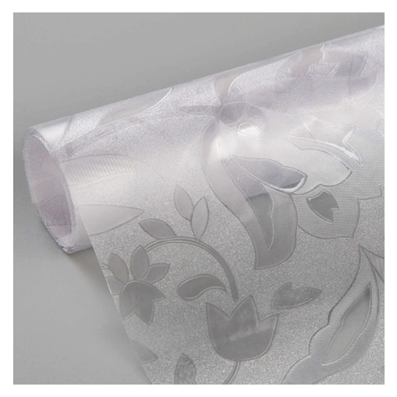 BDF 1CZ7 Floral Etched Decorative Privacy Static Cling Window Film Non Adhesive Kitchen Home Office