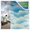 BDF 1CCCB Window Film Cotton Candy Cloud Blue Non-Adhesive Static Cling
