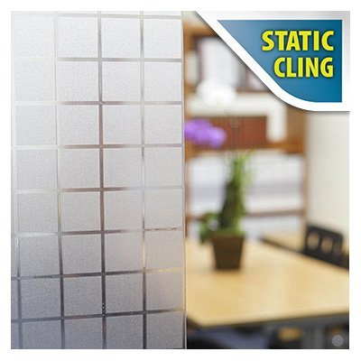BDF 1PBL Window Film Non-Adhesive Frosted Privacy Block Static Cling