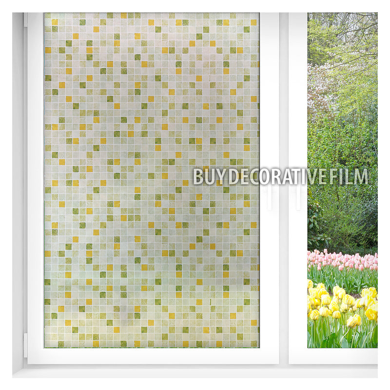 BDF 1GT Window Film Green Tile Non-Adhesive Static Cling