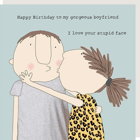 Stupid Face - Greeting Card