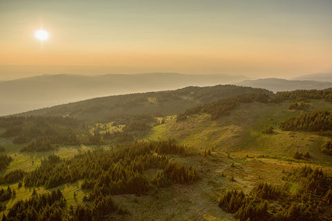Top of the World Golden Hour - Photographic Print