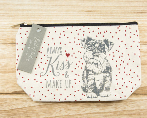 Always kiss & make up - Canvas Cosmetic Bag