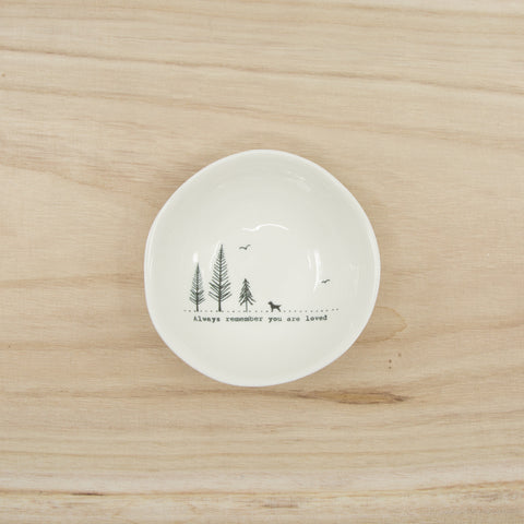 Always remember you are loved - medium wobbly porcelain bowl