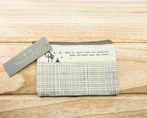 When it rains... - Canvas Purse