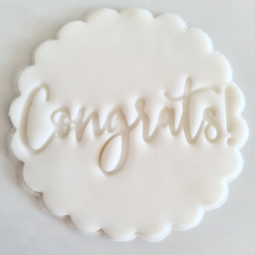 Congrats Fondant Topper to sit above one cupcake