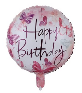 Happy Birthday Butterfly Foil Balloon