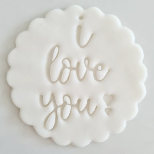 I Love You Fondant Topper to sit above one cupcake