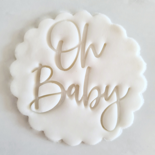 Oh Baby Fondant Topper to sit above one cupcake