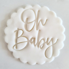 Load image into Gallery viewer, Oh Baby Fondant Topper to sit above one cupcake