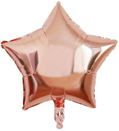 Rose Gold Star Foil Balloon - 25cm