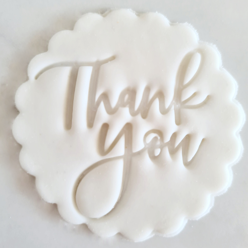 Thank You Fondant Topper to sit above one cupcake