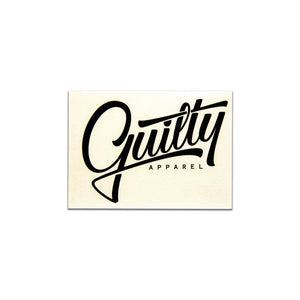 A4 Guilty Apparel Sticker