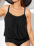 BLACK LIGHTWEIGHT BLOUSON TANKINI TOP