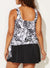 MAVIS SIDE TIE BLOUSON TANKINI WITH SKIRT