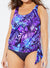 NIGHTFALL SIDE TIE BLOUSON TANKINI TOP