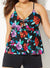 CAMELLIA CUT OUT TIE FRONT TANKINI WITH BOY SHORT