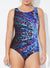 CHLORINE RESISTANT LYCRA XTRA LIFE HIGH NECK ONE PIECE SWIMSUIT