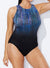 CHLORINE RESISTANT GEMFALL HIGH NECK ONE PIECE SWIMSUIT