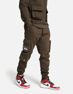 London Attitude utility cargo Joggers in Khaki