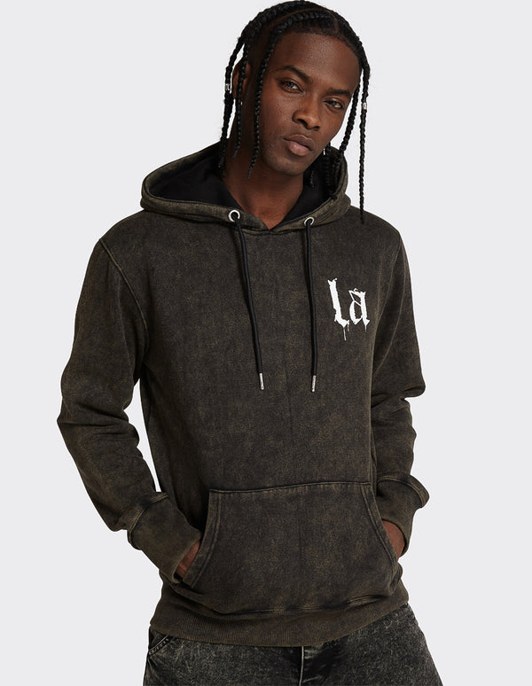 Acid Wash Limited Edition OTH 'LA' print Hoodie
