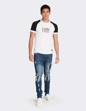 Load image into Gallery viewer, White contrast sleeve t-shirt