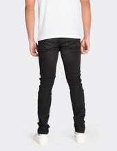 Load image into Gallery viewer, Black skinny fit biker jeans