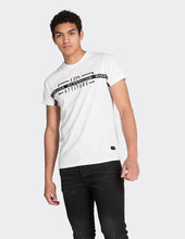 Load image into Gallery viewer, White vertical stripe print t-shirt