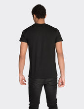 Load image into Gallery viewer, Black vertical stripe print t-shirt