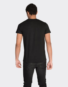 Black vertical stripe print t-shirt