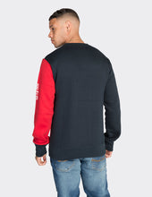 Load image into Gallery viewer, Navy colour blocked sweatshirt