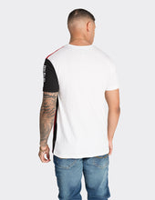 Load image into Gallery viewer, White colour blocked t-shirt