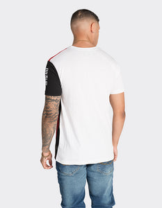 White colour blocked t-shirt