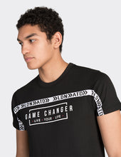 Load image into Gallery viewer, Black game changer print t-shirt