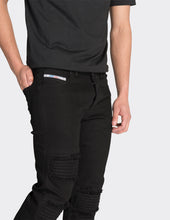Load image into Gallery viewer, Black skinny fit washed jeans